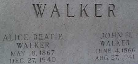 WALKER, JOHN HENRY - Salt Lake County, Utah | JOHN HENRY WALKER - Utah Gravestone Photos