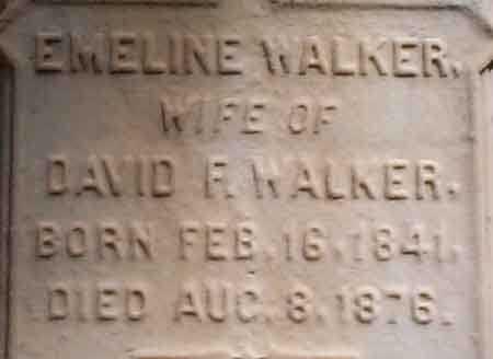 HOLMES WALKER, EMELINE - Salt Lake County, Utah | EMELINE HOLMES WALKER - Utah Gravestone Photos