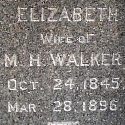 WALKER, ELIZABETH - Salt Lake County, Utah | ELIZABETH WALKER - Utah Gravestone Photos