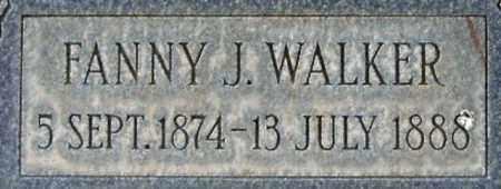 WALKER, FANNY JANE - Salt Lake County, Utah | FANNY JANE WALKER - Utah Gravestone Photos