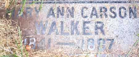 CARSON WALKER, MARY ANN - Salt Lake County, Utah | MARY ANN CARSON WALKER - Utah Gravestone Photos