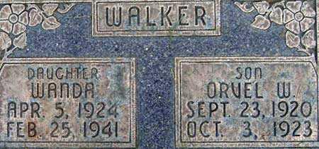 WALKER, ORVEL WALDRON - Salt Lake County, Utah | ORVEL WALDRON WALKER - Utah Gravestone Photos