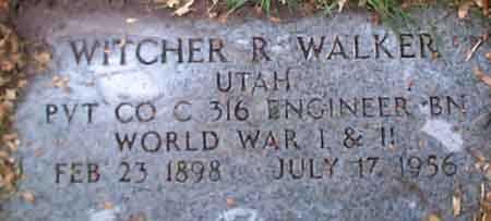 WALKER (WWI), WITCHER RAYMOND - Salt Lake County, Utah   WITCHER RAYMOND WALKER (WWI) - Utah Gravestone Photos