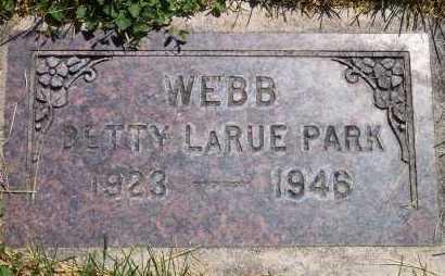 PARK, BETTY LARUE - Salt Lake County, Utah | BETTY LARUE PARK - Utah Gravestone Photos
