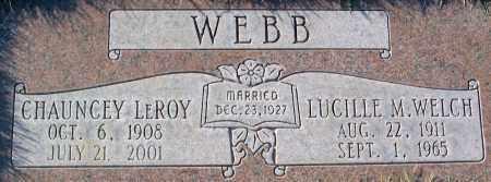 WEBB, LUCILLE MARIE - Salt Lake County, Utah | LUCILLE MARIE WEBB - Utah Gravestone Photos