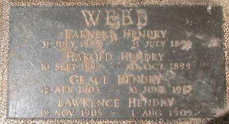 WEBB, HAROLD HENDRY - Salt Lake County, Utah | HAROLD HENDRY WEBB - Utah Gravestone Photos