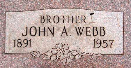 WEBB, JOHN ALFRED - Salt Lake County, Utah   JOHN ALFRED WEBB - Utah Gravestone Photos