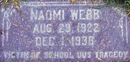 WEBB, NAOMI - Salt Lake County, Utah   NAOMI WEBB - Utah Gravestone Photos
