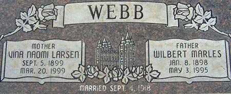 WEBB, WILBERT MARLES - Salt Lake County, Utah | WILBERT MARLES WEBB - Utah Gravestone Photos