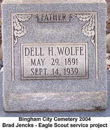 WOLFE, DELL H. - Salt Lake County, Utah | DELL H. WOLFE - Utah Gravestone Photos