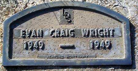 WRIGHT, EVAN CRAIG - Salt Lake County, Utah   EVAN CRAIG WRIGHT - Utah Gravestone Photos