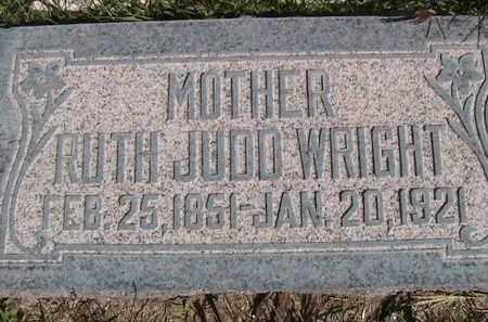 WRIGHT, RUTH JUDD - Salt Lake County, Utah | RUTH JUDD WRIGHT - Utah Gravestone Photos