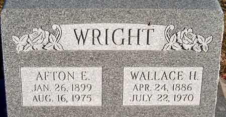WRIGHT, WALLACE HINTON - Salt Lake County, Utah | WALLACE HINTON WRIGHT - Utah Gravestone Photos