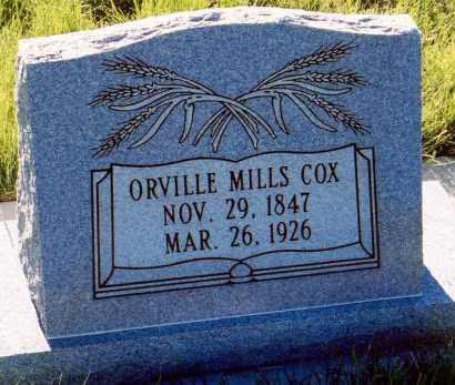MILLS COX, ORVILLE - Sanpete County, Utah | ORVILLE MILLS COX - Utah Gravestone Photos