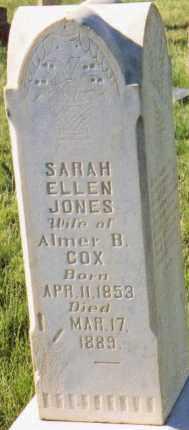 JONES COX, SARAH ELLEN - Sanpete County, Utah | SARAH ELLEN JONES COX - Utah Gravestone Photos