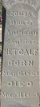 METCALF, CECELIA E - Sanpete County, Utah   CECELIA E METCALF - Utah Gravestone Photos