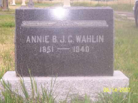 WAHLIN, ANNIE - Sanpete County, Utah | ANNIE WAHLIN - Utah Gravestone Photos