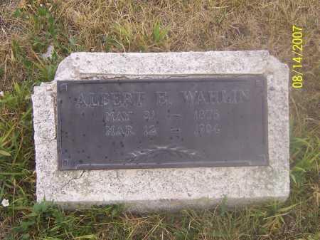 WAHLIN, ALBERT EMANUEL - Sanpete County, Utah   ALBERT EMANUEL WAHLIN - Utah Gravestone Photos