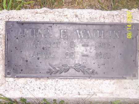 WAHLIN, MINA - Sanpete County, Utah | MINA WAHLIN - Utah Gravestone Photos