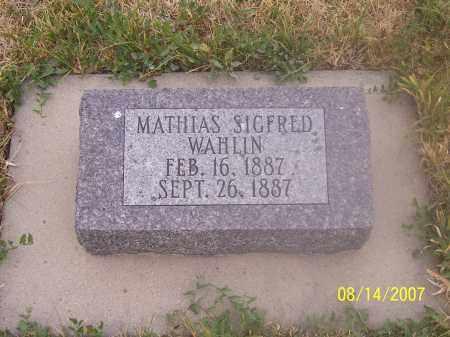 WAHLIN, MATHIAS SIGFRED - Sanpete County, Utah   MATHIAS SIGFRED WAHLIN - Utah Gravestone Photos