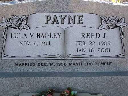 PAYNE, REED J. - Sevier County, Utah | REED J. PAYNE - Utah Gravestone Photos