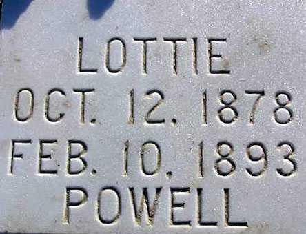 POWELL, LOTTIE ROSINA - Sevier County, Utah | LOTTIE ROSINA POWELL - Utah Gravestone Photos