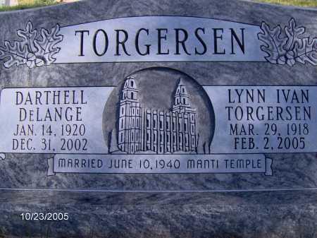 TORGERSEN, LYNN IVAN - Sevier County, Utah   LYNN IVAN TORGERSEN - Utah Gravestone Photos