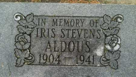 STEVENS ALDOUS, IRIS - Summit County, Utah | IRIS STEVENS ALDOUS - Utah Gravestone Photos