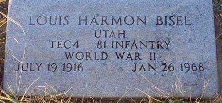 BISEL (WWII), LOUIS HARMON - Summit County, Utah | LOUIS HARMON BISEL (WWII) - Utah Gravestone Photos