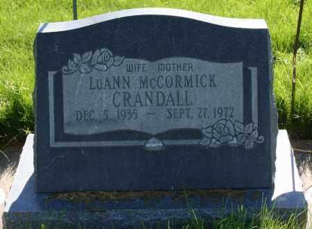 CRANDALL, LUANN - Summit County, Utah | LUANN CRANDALL - Utah Gravestone Photos