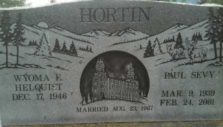 HORTIN, PAUL SEVY - Summit County, Utah | PAUL SEVY HORTIN - Utah Gravestone Photos