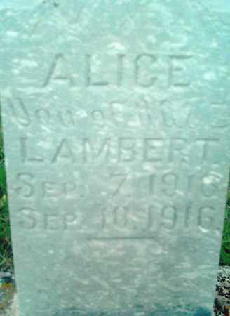 LAMBERT, ALICE - Summit County, Utah | ALICE LAMBERT - Utah Gravestone Photos