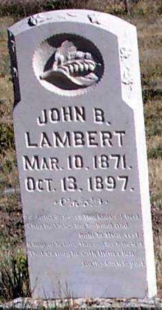 LAMBERT, JOHN BENJAMIN - Summit County, Utah | JOHN BENJAMIN LAMBERT - Utah Gravestone Photos