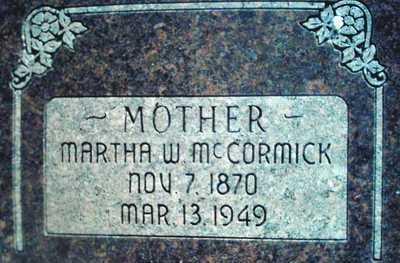 MCCORMICK, MARTHA ELIZABETH - Summit County, Utah | MARTHA ELIZABETH MCCORMICK - Utah Gravestone Photos