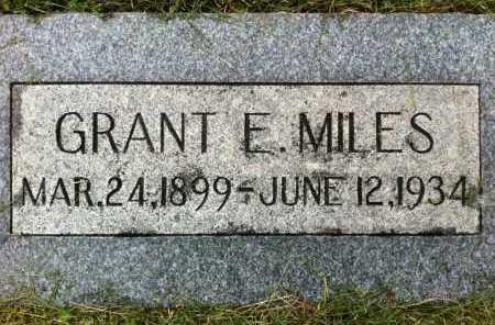 MILES, GRANT E. - Summit County, Utah | GRANT E. MILES - Utah Gravestone Photos