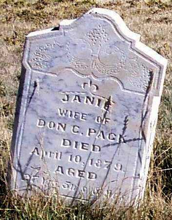 BUCKLAND PACK, SAMANTHA JANE - Summit County, Utah | SAMANTHA JANE BUCKLAND PACK - Utah Gravestone Photos
