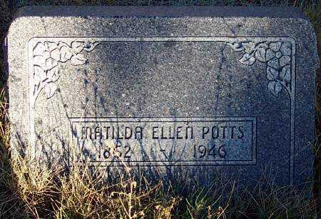 POTTS, MATILDA ELLEN - Summit County, Utah | MATILDA ELLEN POTTS - Utah Gravestone Photos