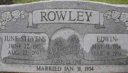 ROWLEY, EDWIN - Summit County, Utah | EDWIN ROWLEY - Utah Gravestone Photos
