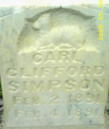 SIMPSON, CARL CLIFFORD - Summit County, Utah   CARL CLIFFORD SIMPSON - Utah Gravestone Photos