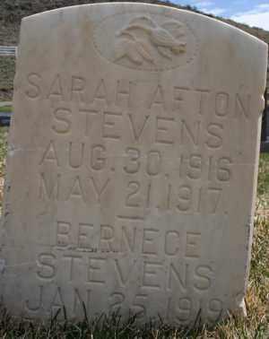 STEVENS, SARAH AFTON - Summit County, Utah | SARAH AFTON STEVENS - Utah Gravestone Photos