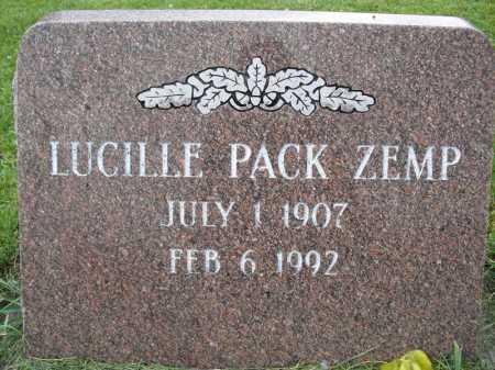 ZEMP, LUCILLE - Summit County, Utah | LUCILLE ZEMP - Utah Gravestone Photos