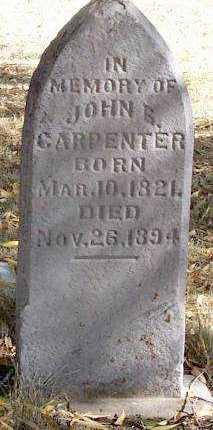 CARPENTER, JOHN SINCERE - Summit County, Utah | JOHN SINCERE CARPENTER - Utah Gravestone Photos