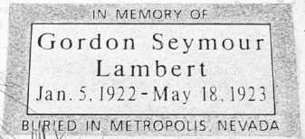 LAMBERT, GORDON SEYMOUR - Summit County, Utah | GORDON SEYMOUR LAMBERT - Utah Gravestone Photos