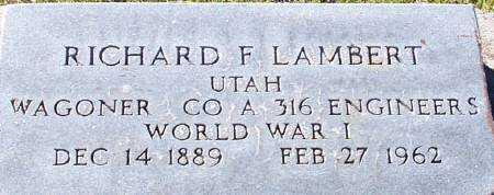 LAMBERT (WWI), RICHARD FRANKLIN - Summit County, Utah | RICHARD FRANKLIN LAMBERT (WWI) - Utah Gravestone Photos