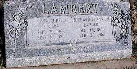 LAMBERT, RICHARD FRANKLIN - Summit County, Utah | RICHARD FRANKLIN LAMBERT - Utah Gravestone Photos