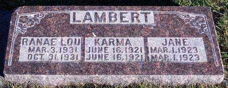 LAMBERT, KARMA - Summit County, Utah | KARMA LAMBERT - Utah Gravestone Photos