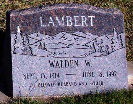 LAMBERT, WALDEN W. - Summit County, Utah | WALDEN W. LAMBERT - Utah Gravestone Photos