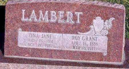LAMBERT, ZINA JANE - Summit County, Utah   ZINA JANE LAMBERT - Utah Gravestone Photos