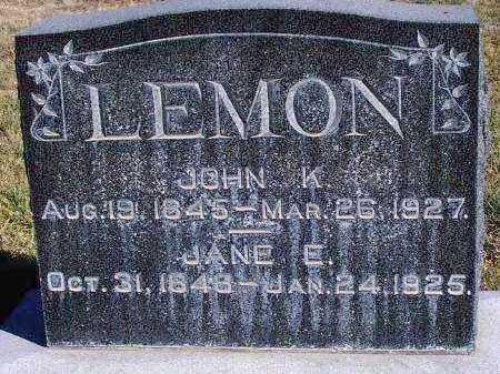 BURBIDGE LEMON, JANE ELIZABETH - Summit County, Utah | JANE ELIZABETH BURBIDGE LEMON - Utah Gravestone Photos
