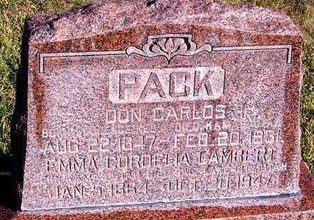 PACK, DON CARLOS - Summit County, Utah | DON CARLOS PACK - Utah Gravestone Photos